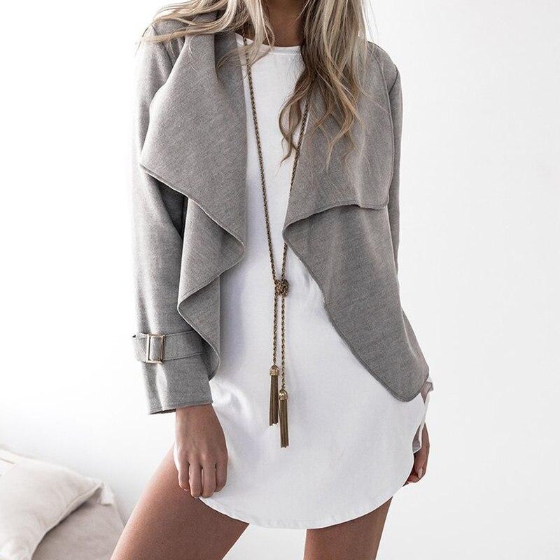 Autumn Winter Fashion Women Jacket Outwear Turn Down Collar Office Lady Jacket Mujer Feminine Coat WS1787E ...