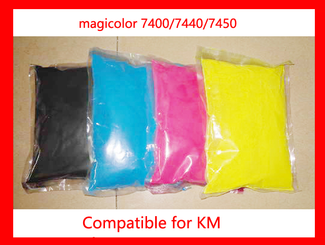 High quality compatible for Konica Minolta magicolor 7400/7440/7450 color toner powder,4kg/lot,free shipping! high quality color toner powder compatible for konica minolta 2002 3102 2203 c2002 c3102 c2203 free shipping