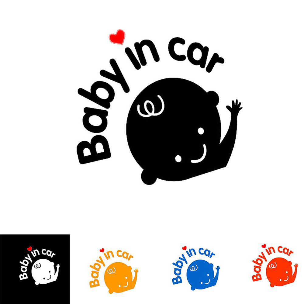 Drôle voiture autocollants 3D bébé dans la voiture vinyle autocollant autocollant voiture style décoration Auto autocollants autocollants Pasters étiquettes