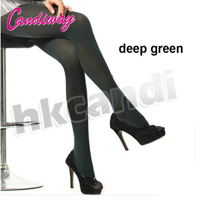 NightLife Fashion Women Transparent Tights Pantyhose Green Color Stockings Sexy Lady Sex Silk
