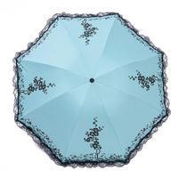 Regen Zon Opvouwbare Organza lace Paraplu Vouw de zon-proof parasol 6 stijl parasol A20