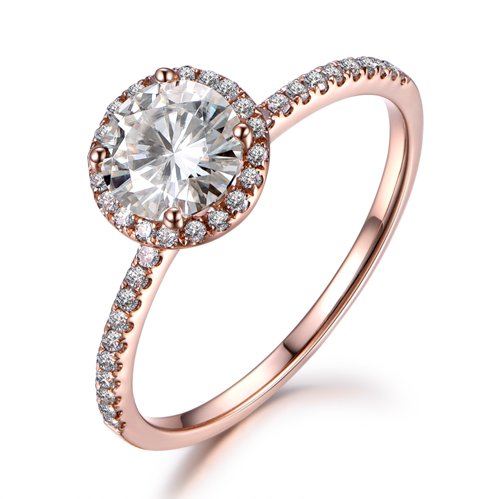 Myray 65mm Round Charles And Colvard Moissanite 14k White Rose Yellow Gold  Engagement Ring Diamond Wedding Women Man Mens Rings