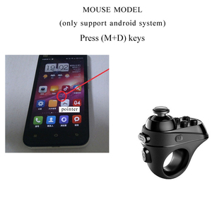 Image 5 - Draadloze Bluetooth Vinger Game Controller Handvat Adapter Muis Selfies Schakelaar Pagina S Functie Ondersteuning Android Ios Systeem