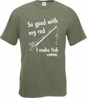 Корейский Футболки для женщин так хорошо с моим стержень я делаю рыбы приходят Фишер футболка новые мужские подарок смешно Фишер Пользоват...