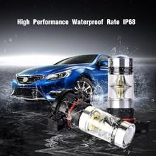 2Pcs H16 Car Fog Light Led Bulb PS24WFF 2504 5201 5202 9009 12085 Auto Bulbs 1800LM Vehicle Headlamp 6000K