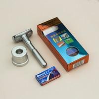 MINGSHI Full Zinc Alloy Safety Razor For Men Adjustable 1 6 Files Close Shaving Classic Double