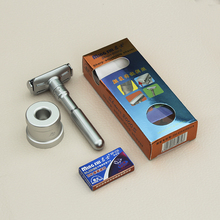 MINGSHI Full Zinc Alloy Safety Razor For Men Adjustable 1-6 Files Close Shaving Classic Double Edge Razors
