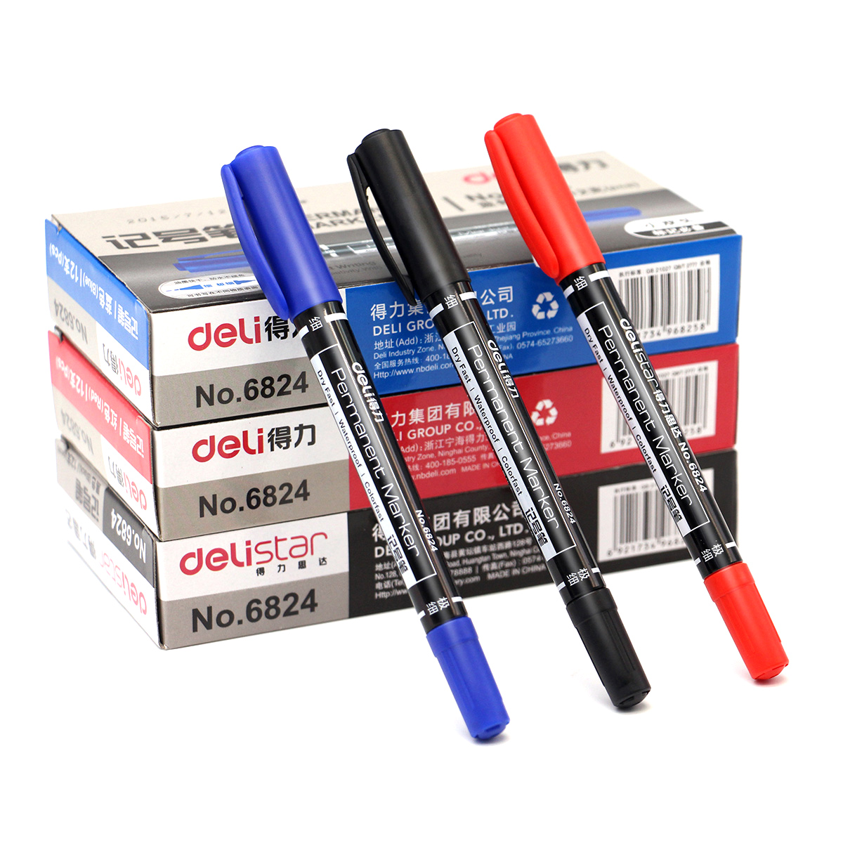 12 Pieces/set Twin Tip Permanent Marker Fine/Medium Point 0.5mm-1mm Pen Marker Black Blue Red Ink Waterproof Oil-Ink Marker Pen12 Pieces/set Twin Tip Permanent Marker Fine/Medium Point 0.5mm-1mm Pen Marker Black Blue Red Ink Waterproof Oil-Ink Marker Pen