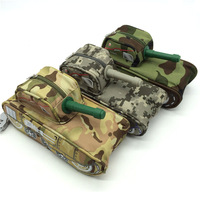 Creative Tank Shaped Modeling Cool Stationery Pencil Case Large Capacity Pen Bag Pouch Storage Box Students