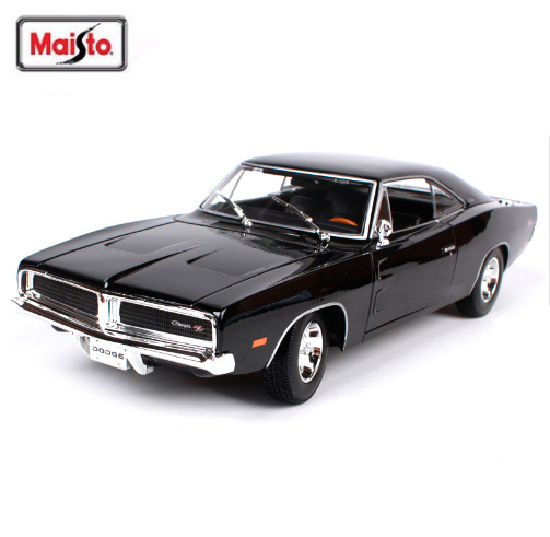 New Arrival Maisto 1 18 1969 Dodge Charger R T Muscle Old Car Model