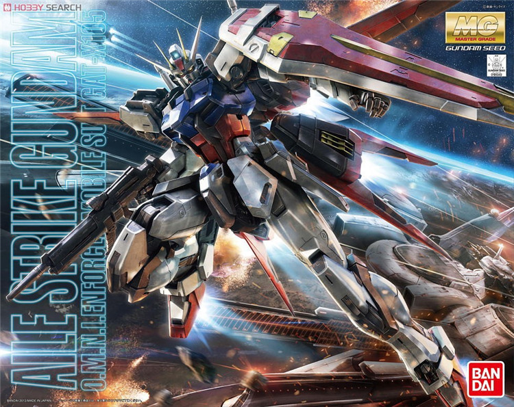 Bandai Gundam MG 1 100 Aile Strike Ver RM Mobile Suit Assemble Model Kits Action Figures