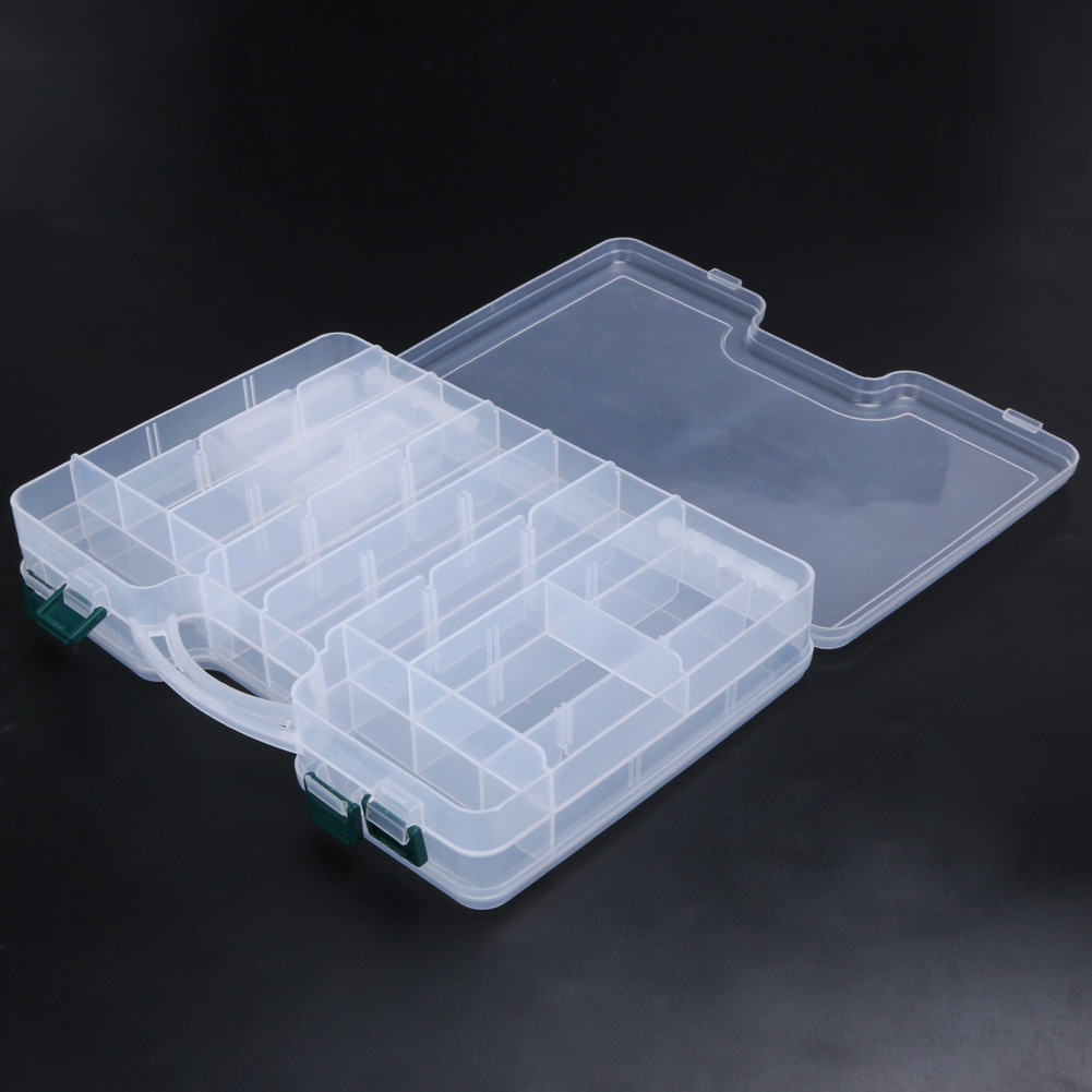 High Strength Fishing Tackle Box Durable Layer Transparent Visible Plastic Fishing Lure Box Fishing Tackle Bait Lures StorageBox