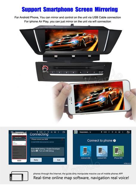 Krando Android 8 1 car radio gps dvd player for bmw x1 e84 2009 2010 2011  2012 2013 navigation multimedia system WIFI 3G DAB+
