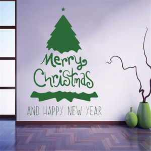 YOYOYU Wall Decal Merry Christmas Tree Decoration Wall Stickers happy new year wall decal for interior vinyl wall stickers ZW91