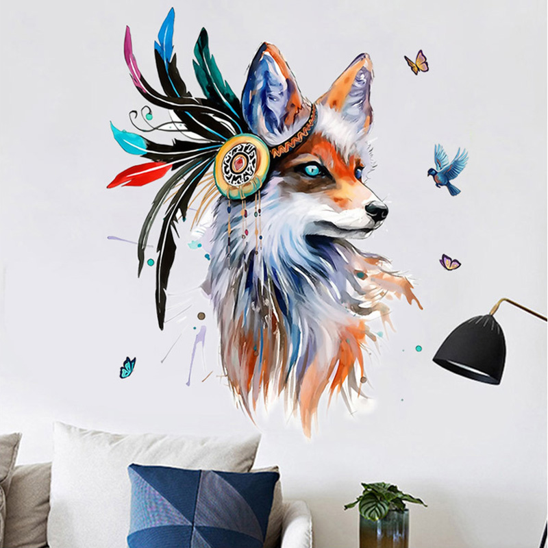 Boho Style Fox Removable Wall Sticker 11
