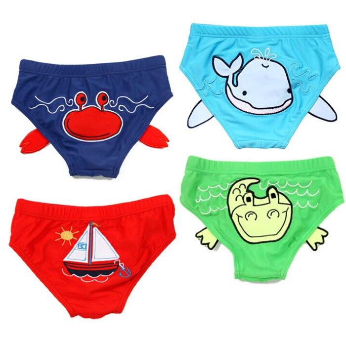 3d sea world infantile swimwear del bambino costume da bagno lavabile pannolini swim pannolino per