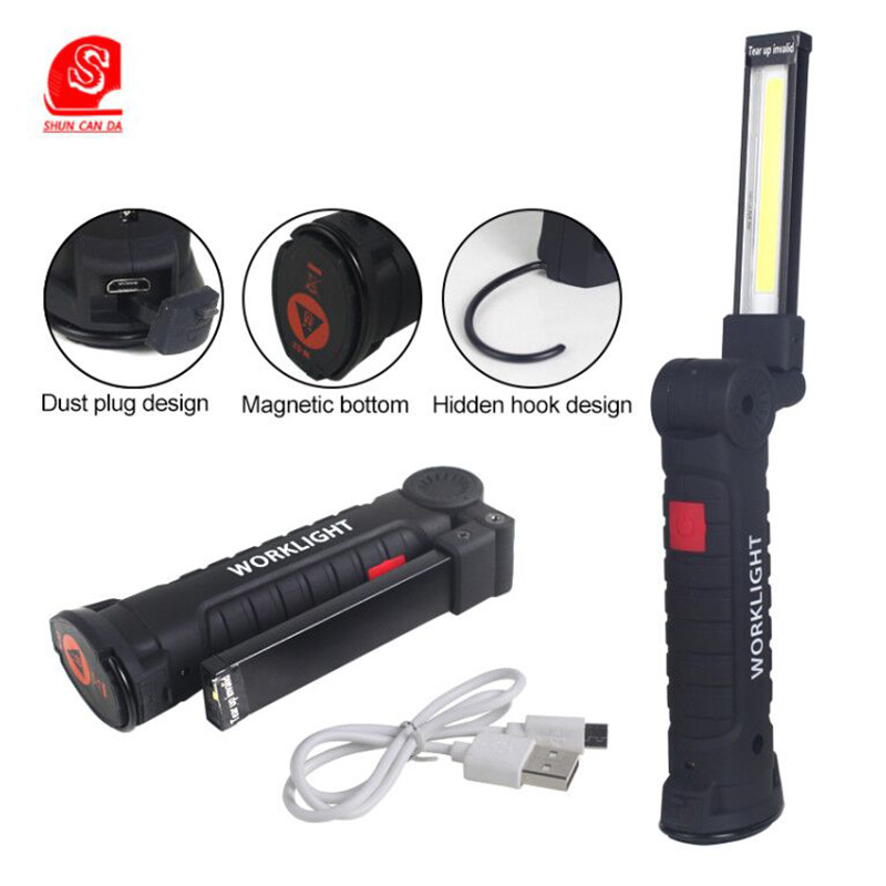 Portable Led Work Light Usb Rechargeable 5 Mode Magnetic Led
