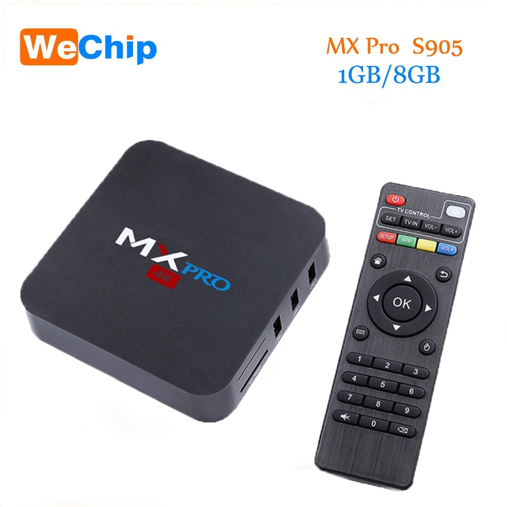 New MX Pro Android 5.1 TV Box Amlogic S905 Quad Core 1GB 8GB WIFI KODI 16.0 Full HD1080P Smart Tv Box PK V88 Media Player mx plus ii android tv box quad core amlogic s905 1g 8g rom smart tv box led display kodi 14 2 full loaded airplay apk