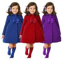 Nowa Moda Chidren Winter Warm Cotton Znosić i Płaszcz, Dziewczynek Koreański Kreskówki Z Długim Rękawem Płaszcz, Dzieci Zima ciepłe Ubrania (3 Kolorów)