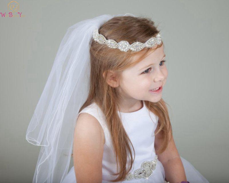 2019 New High White Quality Wedding Elegant Tulle Short Veils Veu De Noiva Longo 1st Communion Flower Girl Veil One Meter Length