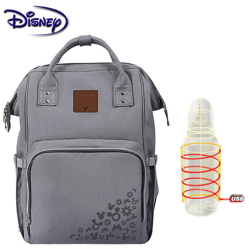 Disney Minnie Maternity Nappy Bag Brand Large USB Capacity Baby Bag Travel Backpack Desinger Nursing Bag Baby Care Diaper Bags