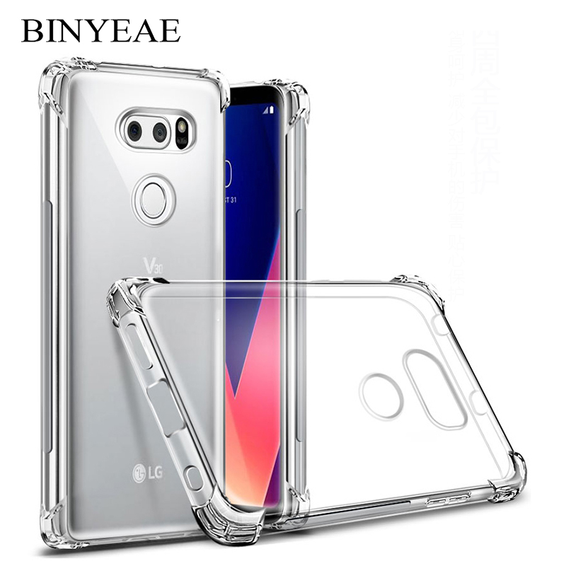 shockproof Clear Silicone Case For LG X Power 2 Stylo 3 G6 G7 ThinQ Q6 V20 V30 K4 K8 K9 K10 K11 K20 K30 Plus Pro 2017 2018 Skin