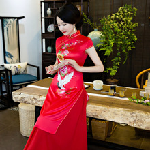 2017 new qipao dress Ethnic style Vietnam ao dai dress for women