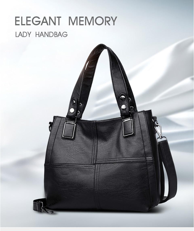 Patchwork Shoulder CrossBody Bags Women's PU Leather Tote Bag Ladies Shoulder Bags Patchwork Women Messenger Bags