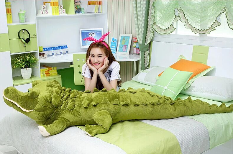 huge lovely simulaiton plush crocodile toy lovely creative crocodile pillow gift about 200cm 0387