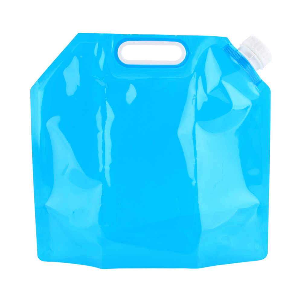 5 10l Folding Drinking Water Container Bag Storage Lifting Bucket For Survival Outdoor Camping Hiking