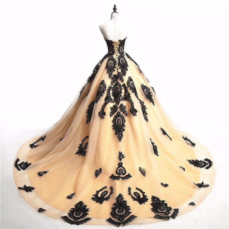 Vintage Black Gothic Wedding Dresses 2017 Sweetheart Lace up Lace ...