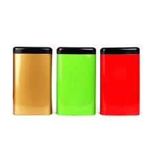 Xin Jia Yi Packaging Metal Box Spice Tiny Mints Pill Red Rectangle Tin Cans With Black Lid Factory Directly Sale Food Grade Tin xin jia yi packaging square small tin box matcha mini tin can manufacturer coffee cookie square metal box package with lid