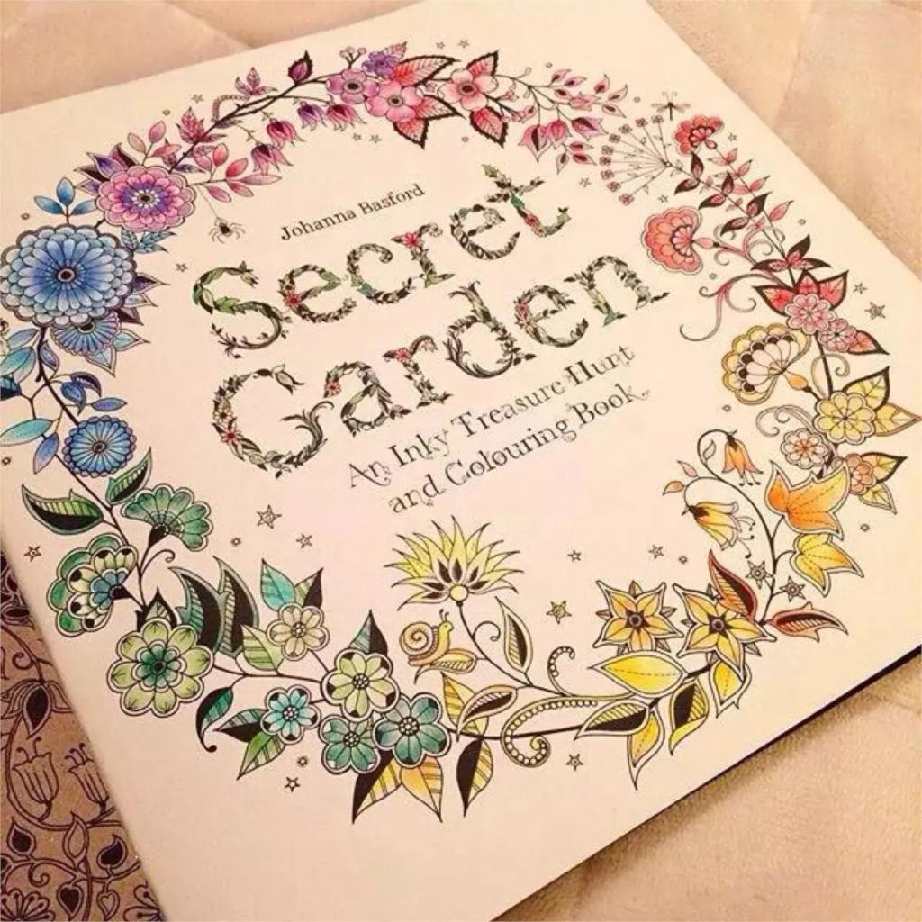 Online Shop Secret Garden Coloring Books Pencils 36 Pcs Original English Adult Relieve Stress Art Graffiti Painting Drawing Book