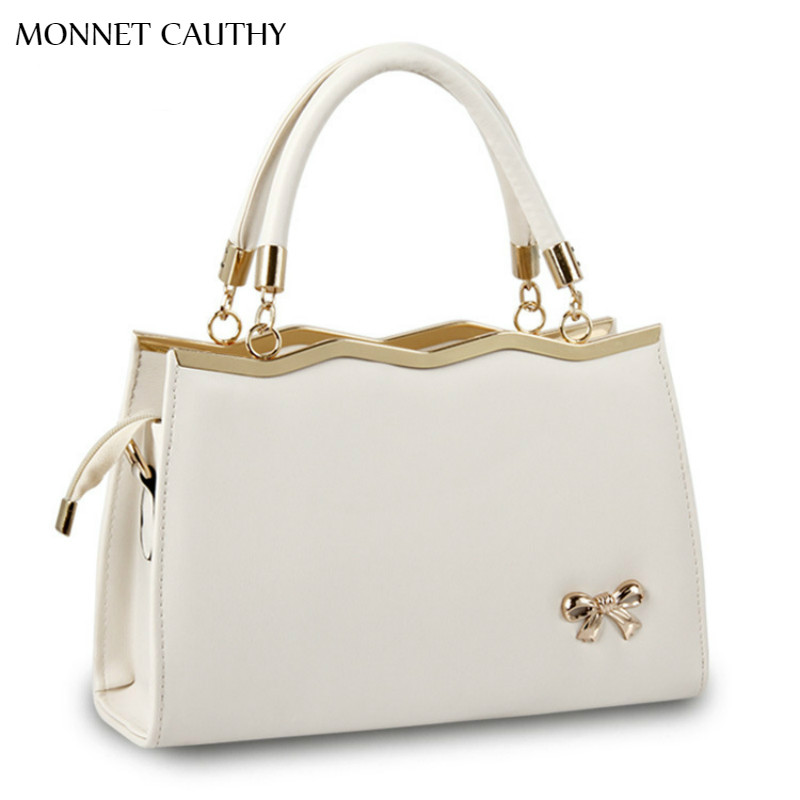 ФОТО MONNET CAUTHY New Bags Female Candy Color Beige Sky Blue Lavender Army Green Red Black Totes Fashion Lady Wedding Party Handbags