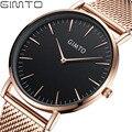 2017 GIMTO Brand Fashion Sports Men Watch Steel Analog Quartz Dress Wrist watch Men Thin Luxury Casual Men's Watches Relogio