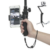 Go Pro Extension Pole Arm 3 Way Grip Monopod Tripods For Gopro Hero 4 3 3