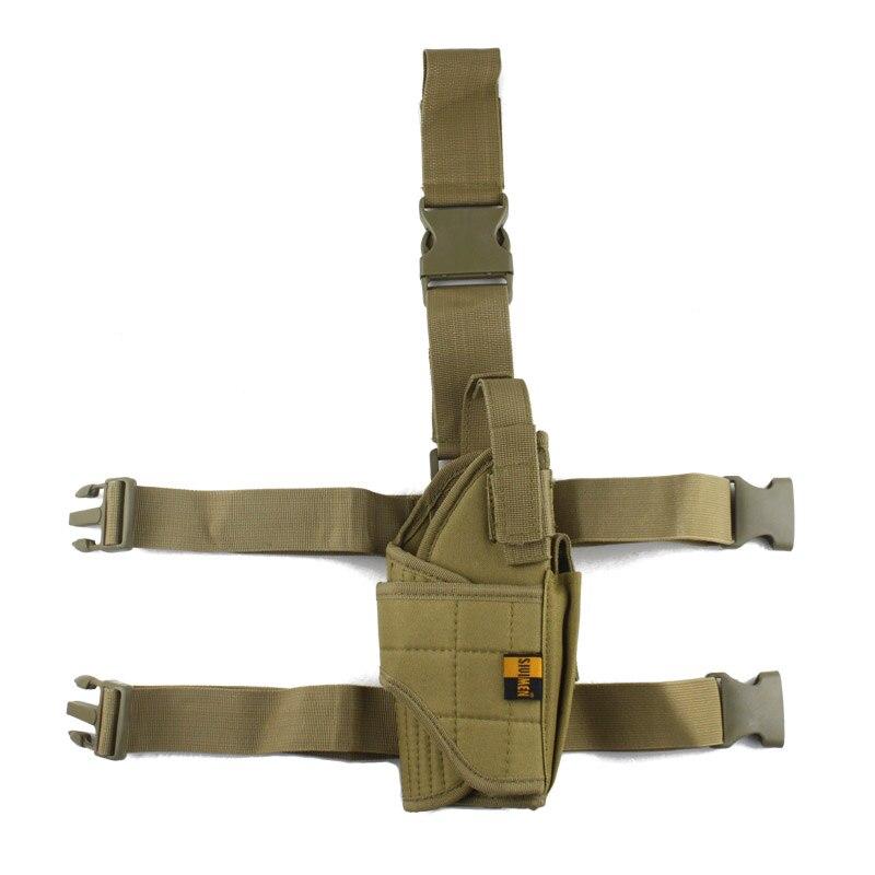 Einstellbare Military Airsoft Holster Jagd Tactical Pistol Bein Holster Oberschenkel Pistolenhalfter für die rechte hand