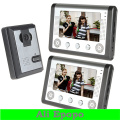 3sets/lot 7 Inch LCD Night Vision Home Video Door Phone Intercom Doorphone Doorbell System Kit with 1 IR Camera + 2 Monitors