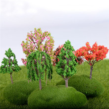 16 style Mini Tree Fairy Garden Decorations Miniatures Micro Landscape Resin Crafts Bonsai Figurine Garden Terrarium Accessories