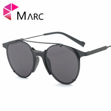 MARC 100%UV400 WOMEN Sunglasses fashion designer Red Gradient metal Alloy resin B