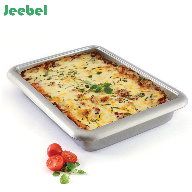 Jeebel Square Baking Pan Tray Oven Steel Trays Bread Baking Forms Pan Cookie Cake Pan Mold Microwave Dish Baking Tray