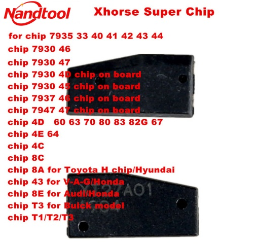 Xhorse VVDI Super Chip Transponder for ID46 / 40/43 / 4D / 8C / 8A / T3 / 47/41/42/45 / ID46 for VVDI2 VVDI Key Tool / Mini Wren(China)