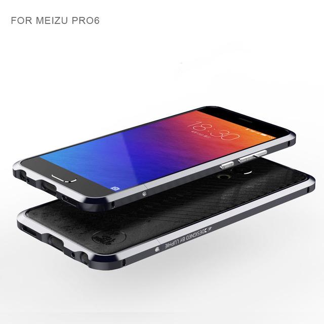 "Novo Noble Bumper Luxo Para MEIZU 6 PRO Caso De Alumínio Para MEIZU PRO6 5.2 ""Caso Avançado de Metal Bumper Capa Protetora de Couro"