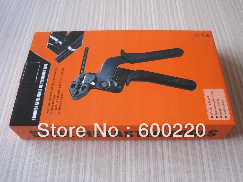 Купить с кэшбэком cable tie fasten tensioning tool for stainless steel LS-600R 2.4-9mm stainless steel cable tie tool