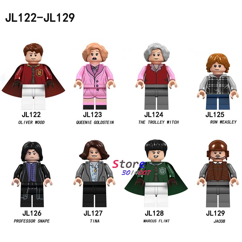 50pcs Building Blocks Harry Potter luna lovegood longbottom diggory Flitwick Wood Queenie Goldstein Tina for kid