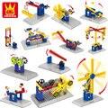 4 Estilos de Bloques de Construcción Ladrillos Niños Juguetes Wange Ingeniería Mecánica 3 En 1 DIY Modelo de Colección de Regalo Compatible Con Legoe