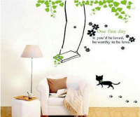 One Fine Day Wall Stickers For Kids Rooms Home Decor DIY Wallpaper Art Decals House Decoration CT258