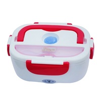 Lunch Box Multi Functional Portable Electric Heating Lunchbox Heat Preservation Bento with Spoon Multi Color W8588