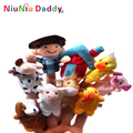 5 Sets venta al por mayor 10 unids/set The nursery rhyme finger puppets, Old Macdonald tenía una granja