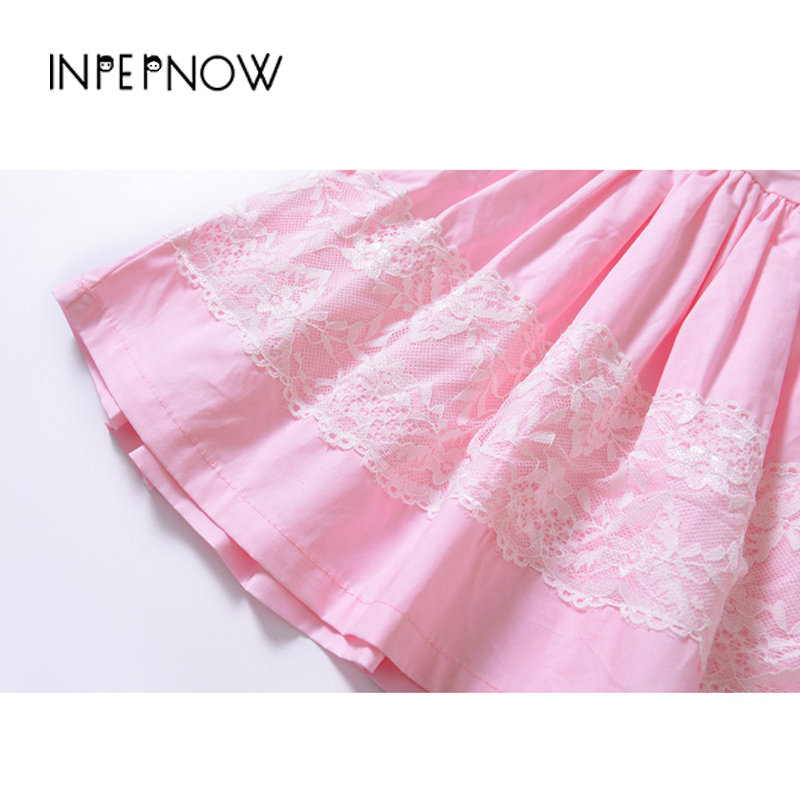INPEPNOW Girls Summer Dress 2019 Brand Backless Teenage Party Princess Dress Children Costume for Kids Clothes Pink LYQ-CZX131